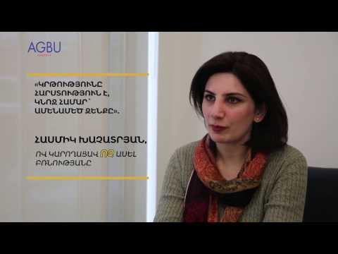 """EDUCATION IS A TREASURE, THE GREATEST WEAPON FOR A WOMAN"" STATES HASMIK KHACHATRYAN, WHO WAS ABLE TO SAY NO TO VIOLENCE"